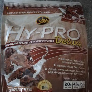 Testbericht Proteinpulver All Stars Hy Pro Deluxe Schokolade und Keks